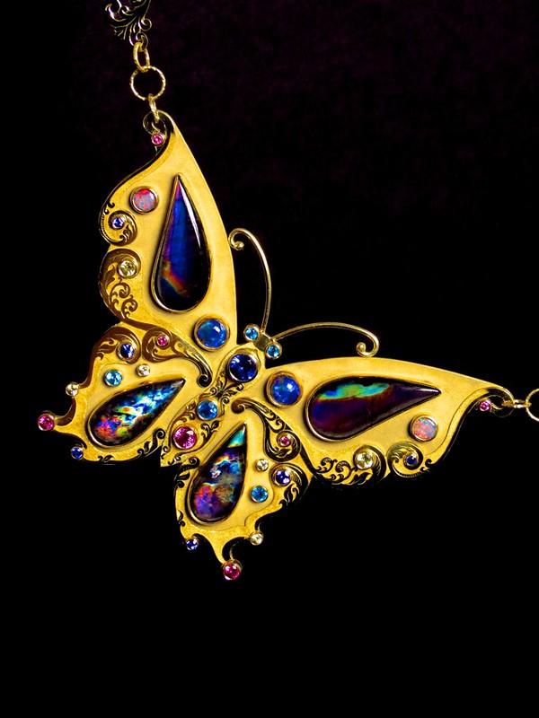 18k Spectrolite Butterfly