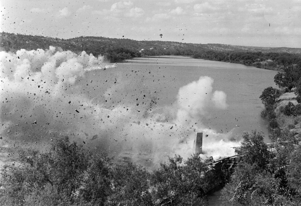 The Old Marble Falls Dam, 1951