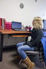 Picture of student at a desk
