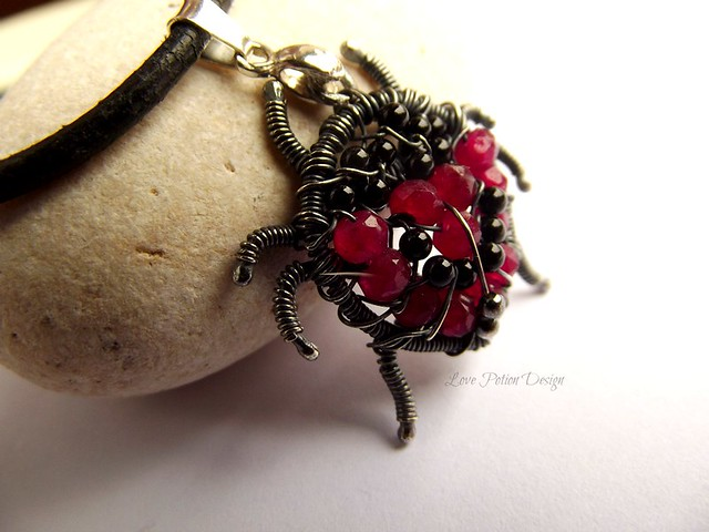 Ladybug Wire Wrapped Ring