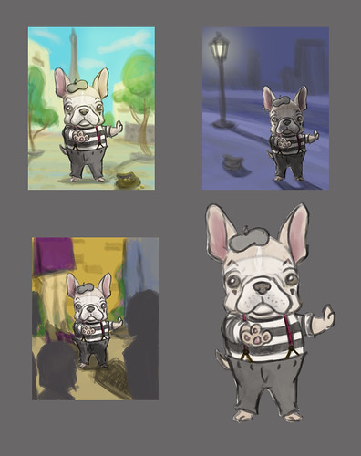french bulldog mime bg