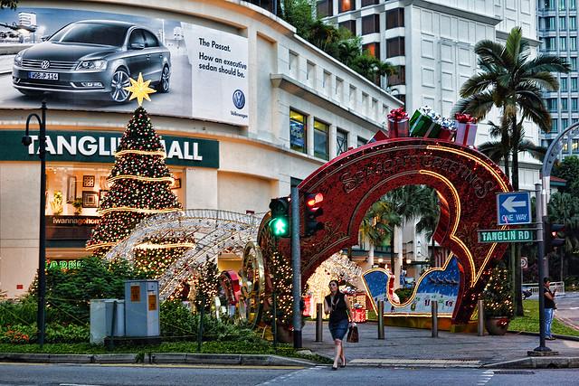 Christmas tree at Tanglin Mall, Singapore