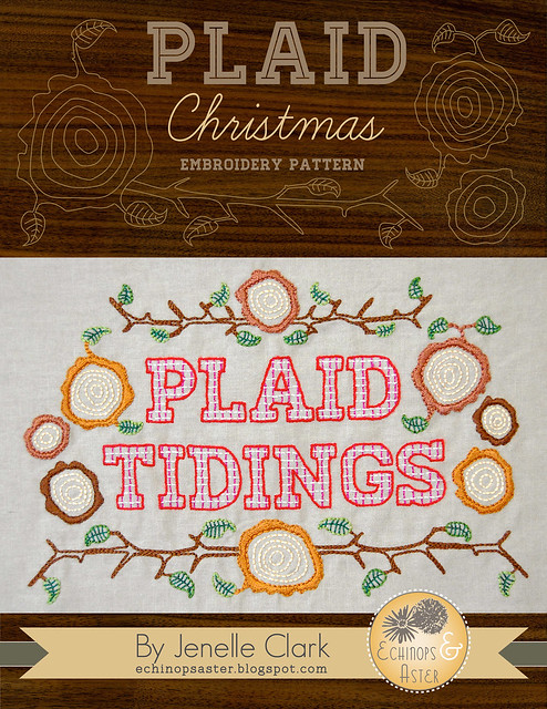 Plaid Christmas Embroidery Pattern