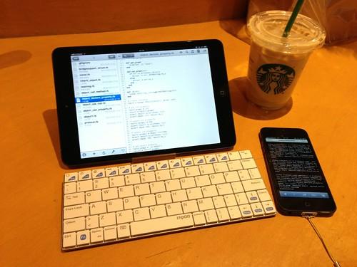 iPad mini Cellular + Textastic + BT Keyboard
