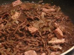 pulled pork(0.0), goat meat(0.0), venison(0.0), brisket(0.0), carnitas(1.0), meat(1.0), food(1.0), dish(1.0), bulgogi(1.0), cuisine(1.0),