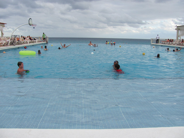 Infinity pool at Crown Paradise Club