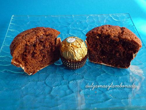 Cupcakes Ferrero Rocher  - Corte