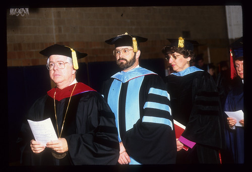 Commencement 1991 -Donald Gerig, Doug Barcalow, Alice Joy Weddle