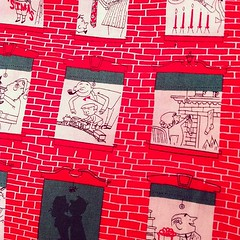 christmas windows fabric