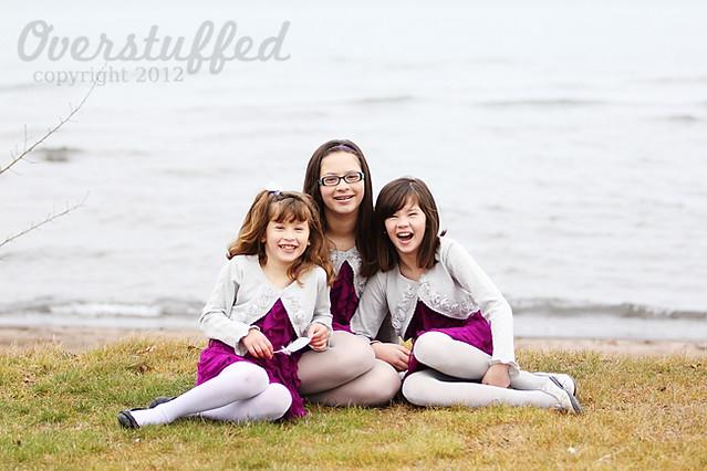 Fun Family Christmas Tradition — matching Christmas dresses for the Christmas card