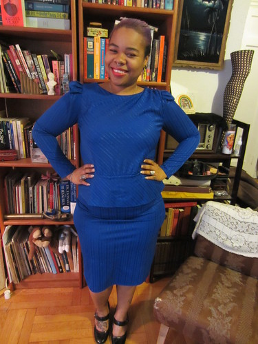 XL/1X/2X Blue peplum dress $30 (#7)