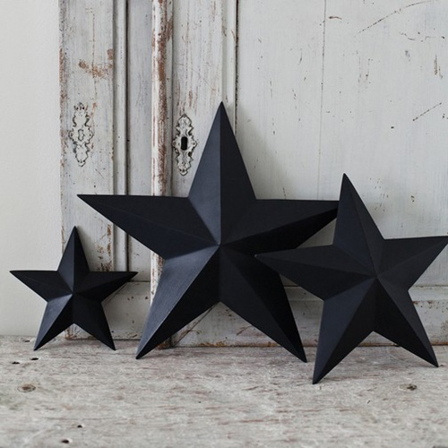 Black white christmas decorations the style files for 3d star decoration