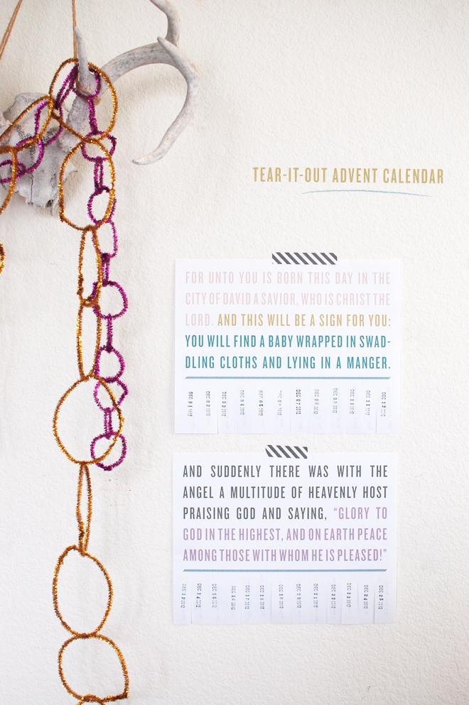 DIY: tear-it-out advent