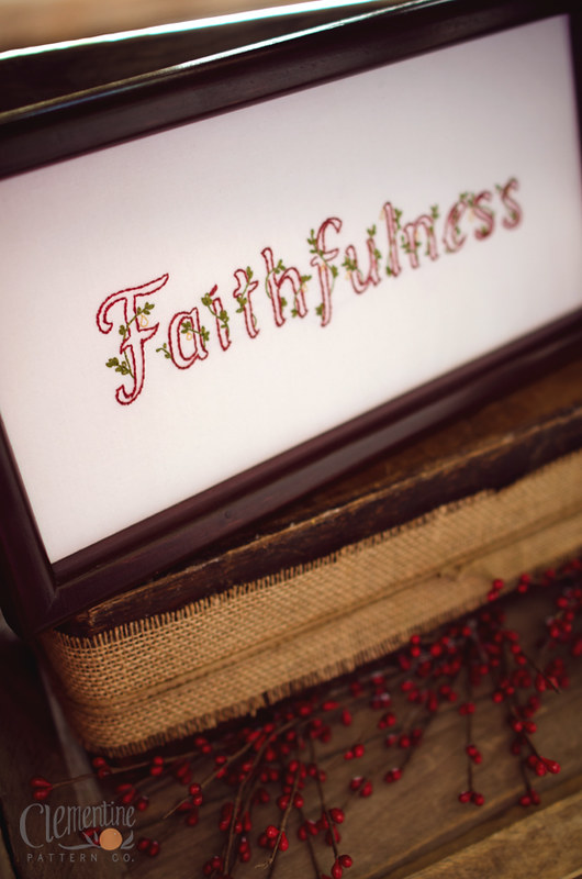 Faithfulness by Clementine Pattern Co
