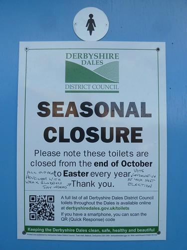Over Haddon public toilets ...