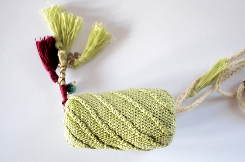 Crochet necklace - Crocheted bead
