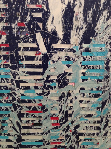 Detail, Mark Bradford painting