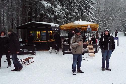 Fuchstanz im Schnee. Dezember 2012