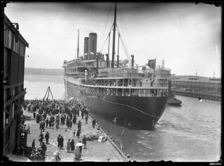 Departure of the passenger liner SS ORAMA