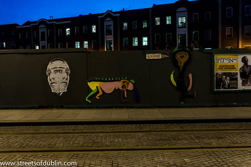 Smithfield at Night - Street Art by infomatique