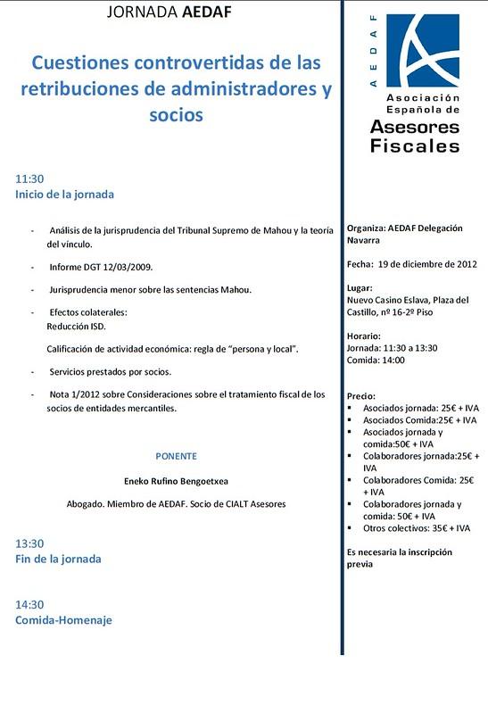 """Ponencia sobre """"Retribución de los administradores"""" en Navarra"""
