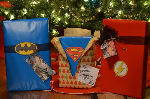 Superhero gift wrap