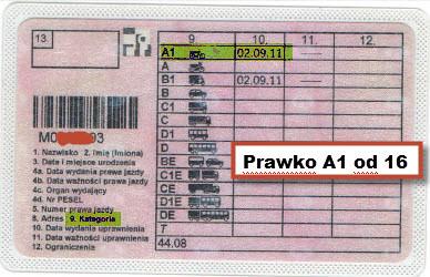 Prawo jazdy A1
