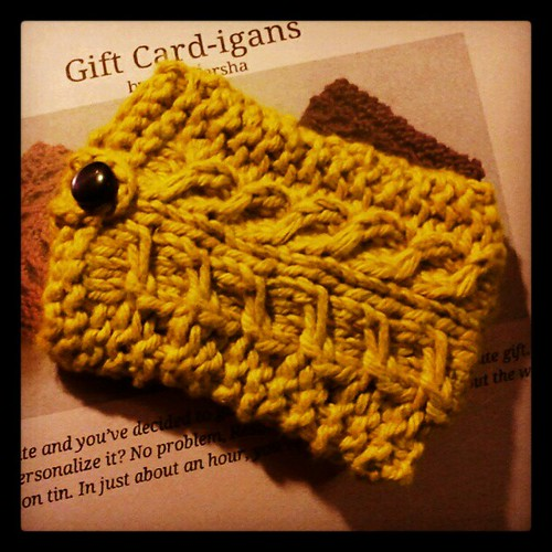 #giftcardholder complete! #Christmas #knitting #crafting #handmade #knit #knitstagram #quickknit