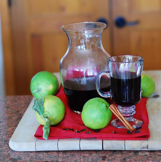 Mulled red wine with spices, Christmas, holidays