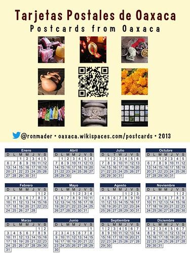 Tarjetas postales de Oaxaca (2013 Calendar)