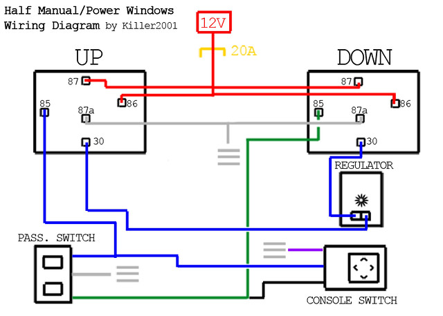 Half Manual   Power       Window       Wiring       Diagram      by Killer2001   By  J Sugiyama   Flickr  Photo Sharing