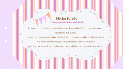 Cheque Regalo 2Merbo Events