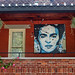 Frida Kahlo portrait on a porch by sharon'soutlook