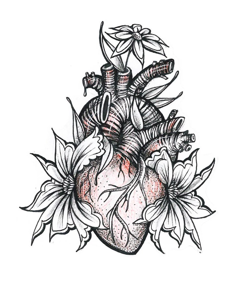It's just an image of Hilaire Drawing Of Hearts And Flowers