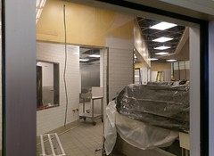 Peek behind the construction wall at the new deli…