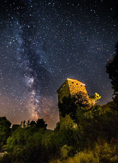 Milky Way rises over the 4-3 BC fortress.