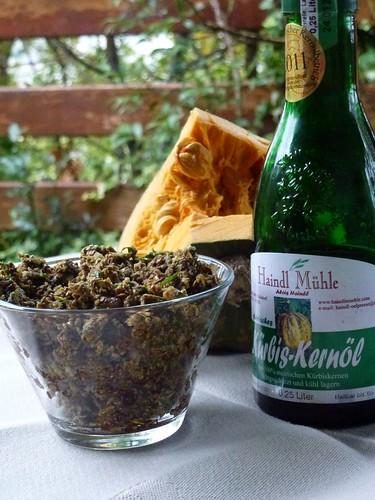 Kürbiskernen-Pesto - Pumpkin seed-Pesto - Pesto di semi di zucca