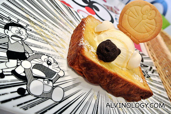 Rachel and I ordered this Doraemon ice cream toast to share