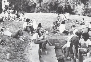 "Undated image of ""social life in the Wash"" from a 1991 Pomona College Magazine"