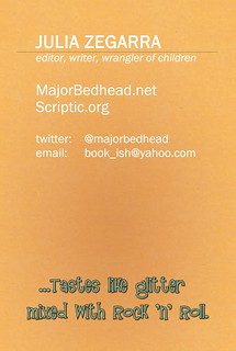 MajorBedhead.net business card, back
