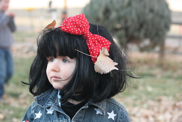 leaves in wig