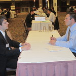 IWU Alum Michael Jackson of Caterpillar Inc. interviewing a student --
