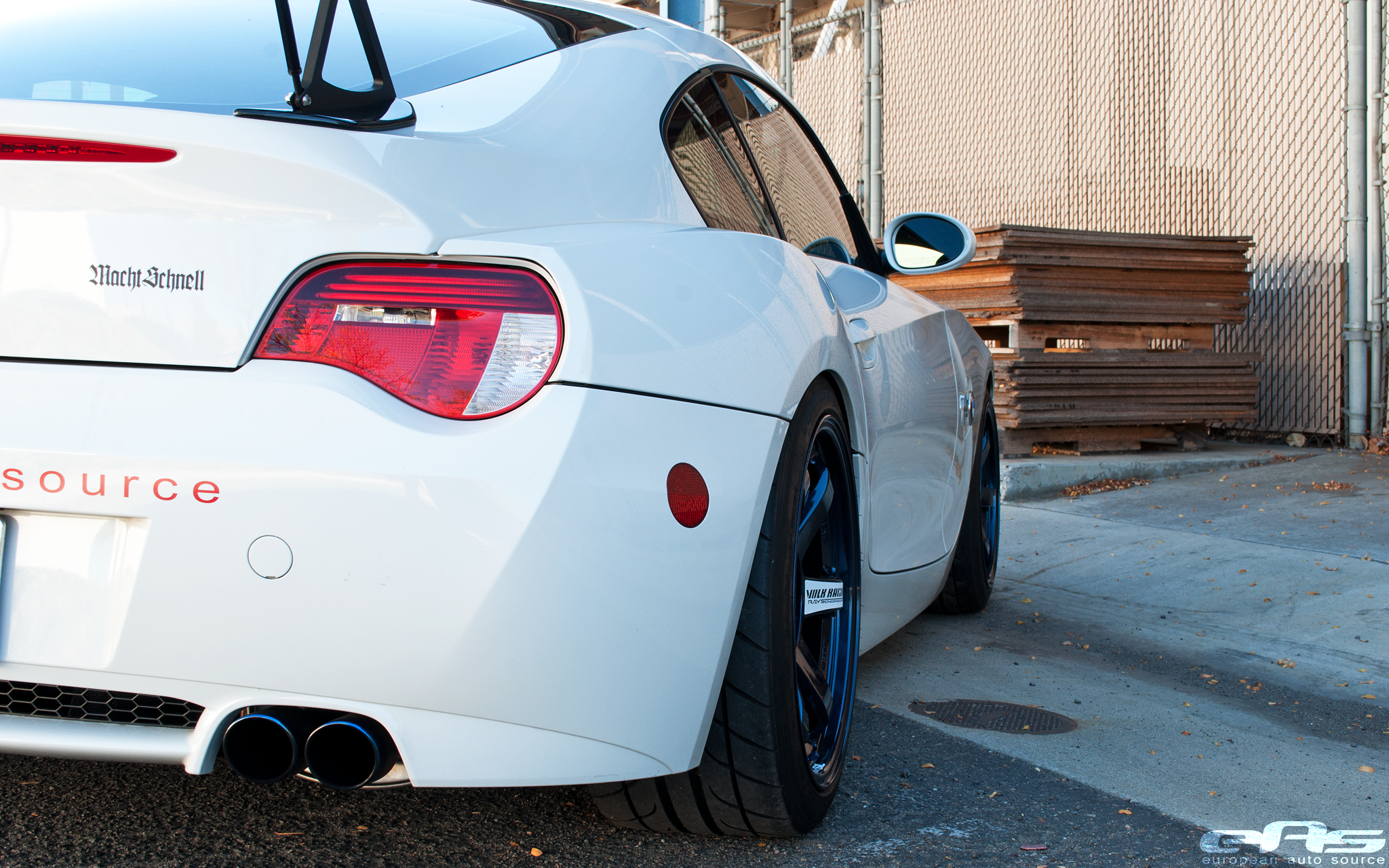 Mag Blue Te37sls On Our Z4m Bmw Performance Parts Services