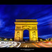 Arc de Triomphe Blue Hour by Guillaume Chanson