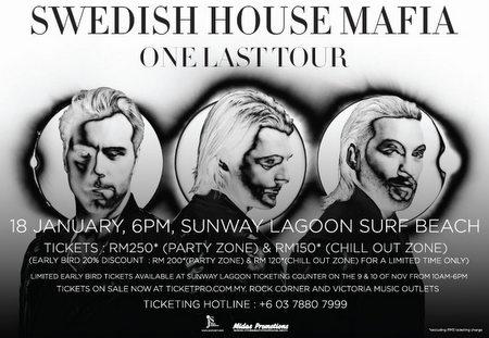 Swedish House Mafia One Last Tour live in Kuala Lumpur