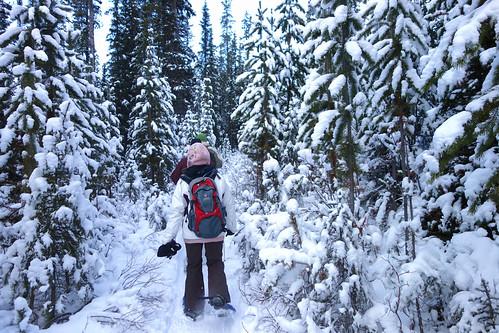 Snowshoeing Rummel Lake-12