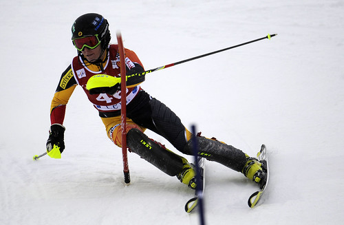 Britt Phelan during the Levi, Finland, World Cup slalom.