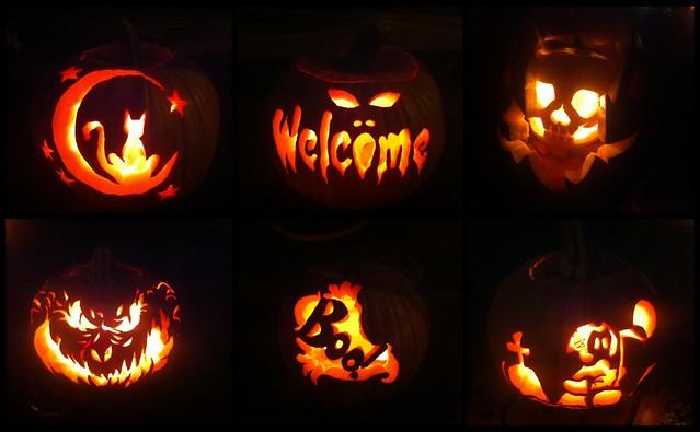 Jack O' Lanterns Seen on Halloween