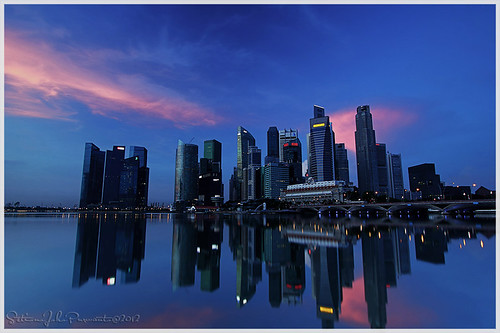 city light night marina sunrise bay sand singapore