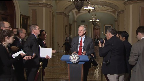 Senator-Elect Angus King (I.) Addresses Reporters at U.S. Capitol